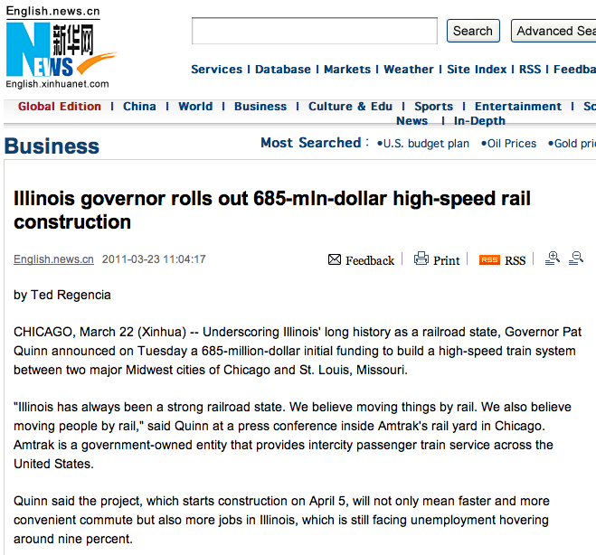 High-speed rail to connect Chicago, St  Louis – Ted Regencia Reports